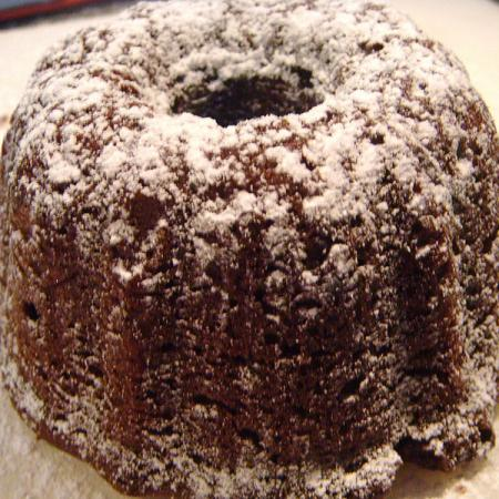 Mini chocolate cinnamon bundt cake