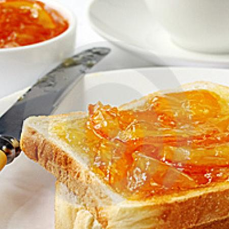 Toast With Marmalade And Preserves