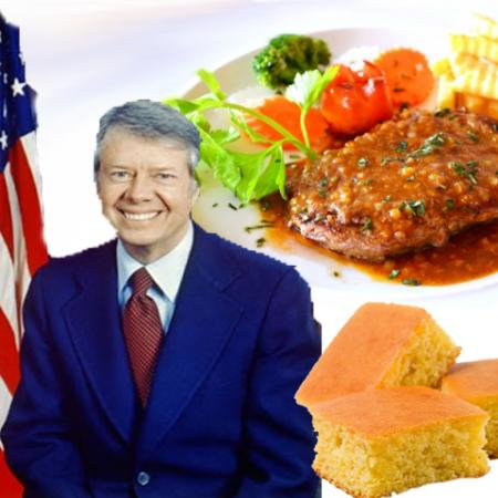 Jimmy Carter with Sirloin Steak and Corn Bread