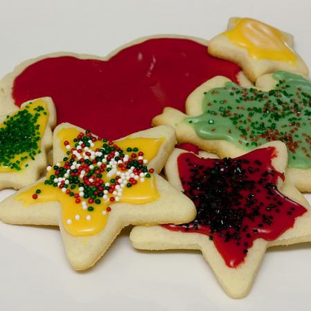 Home-baked sugar cut-out cookies