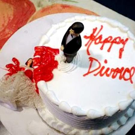Divorce Cake - Fallen Murdered Wife with Husband Looking
