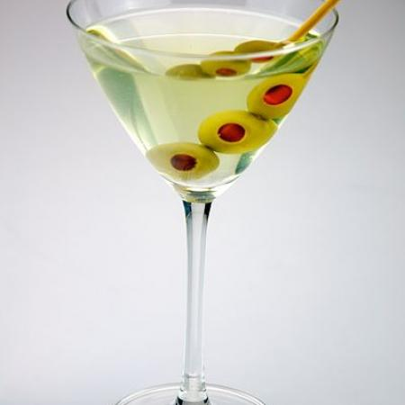Triple olive Dirty Martini