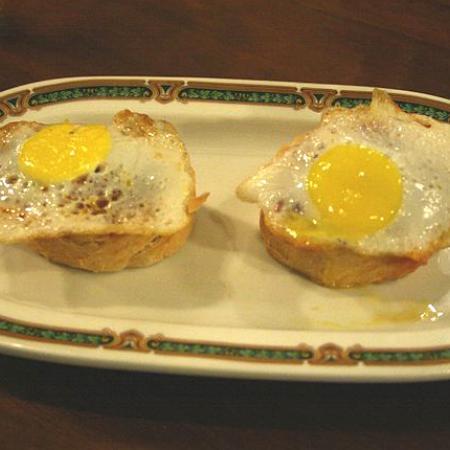 Tapa de huevos de perdiz
