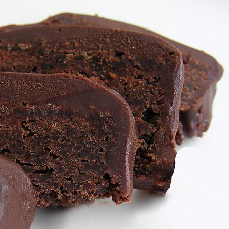 Whiskey Chocolate Cake brownie slices