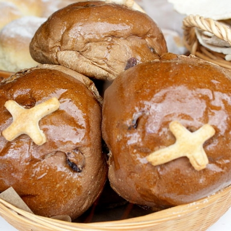 Scottish hot cross buns