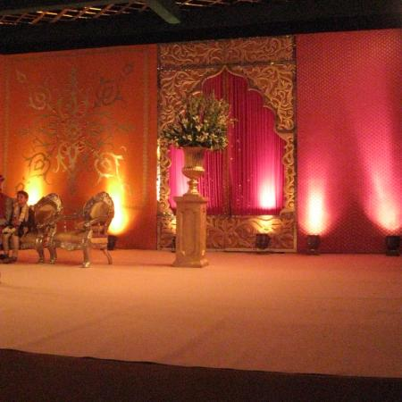The Stage - Pink, Orange, Gold Ornate Decoration