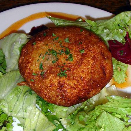 Fishcake On Salad