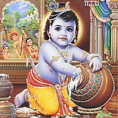 Krishna With Makhan