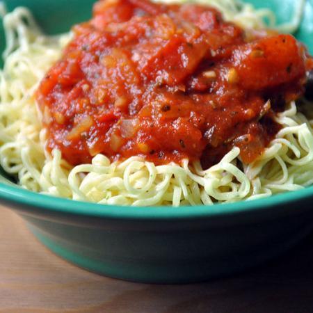 Pasta with Tomato Sauce