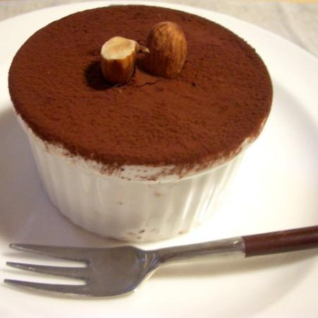 Tiramisu with an almond garnish