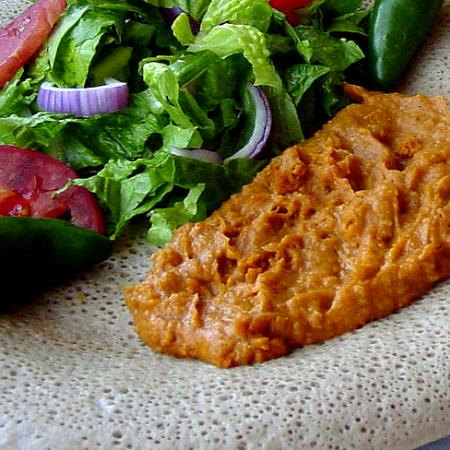 Ethiopian Injera with Filling