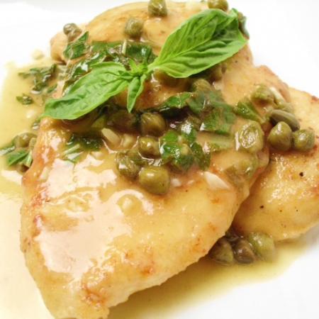 Basil Chicken Piccata