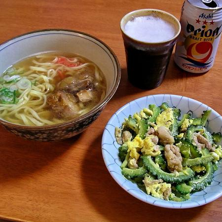 Okinawa Soba And Goya Chanpuru