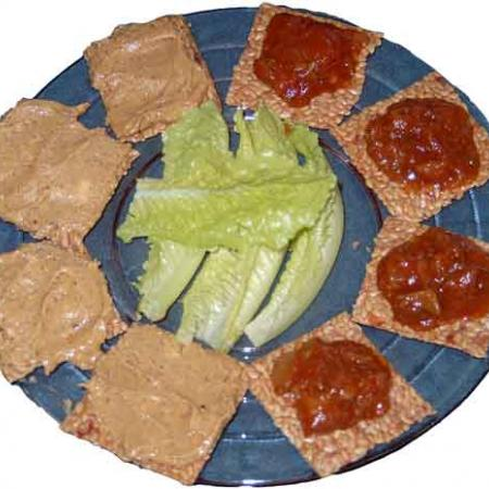 Flax Crackers With Spreads