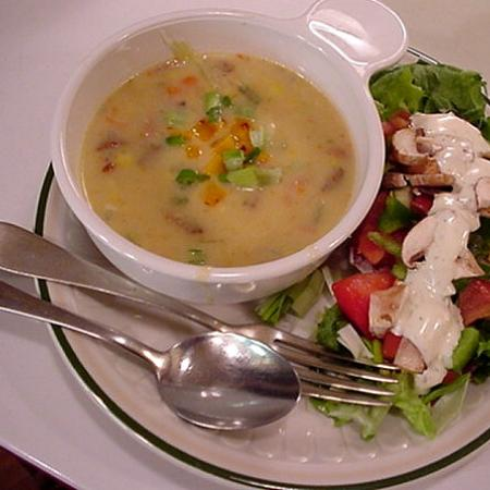 Salad with Soup