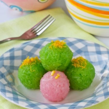 Thai Sweet Sticky Rice Balls