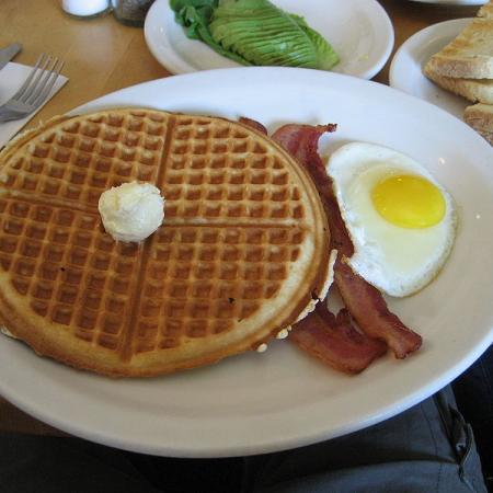Waffles with Bacon and Egg
