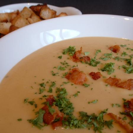 Red Lentil And Smoked Pancetta Soup