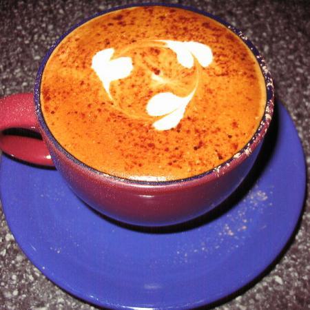 Three Hearts cappuccino