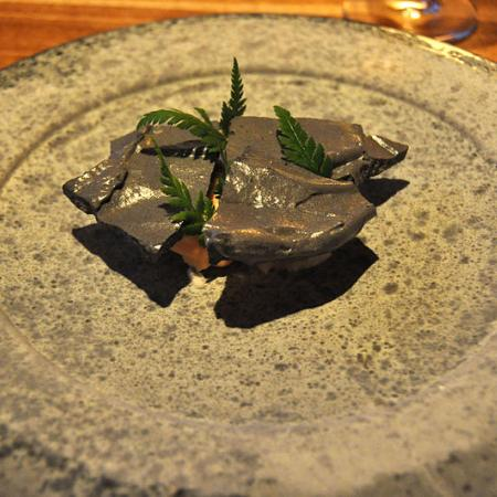 Meringue and ice of birch and honey