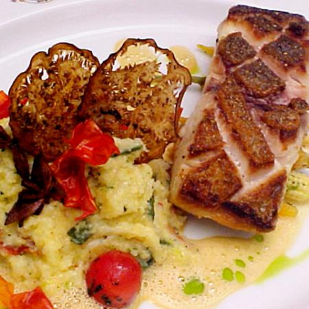 Pan Seard Snapper With Sundried Tomato Polenta  Spiced