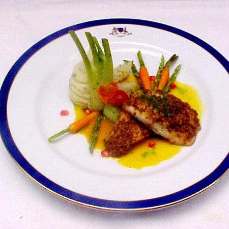 Cumin Crusted Snapper With Orange Reduction