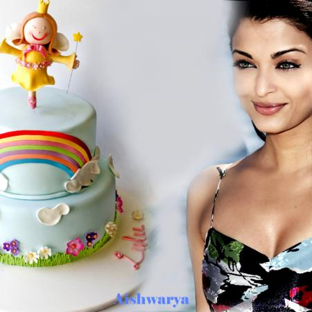Aishwarya And Cake