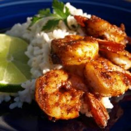 Crispy Prawns With Rice
