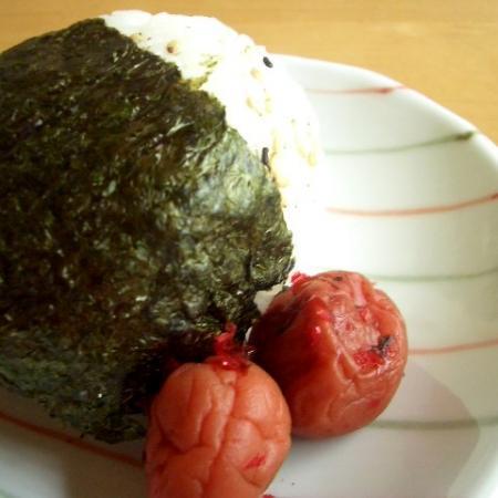 Onigiri and umeboshi