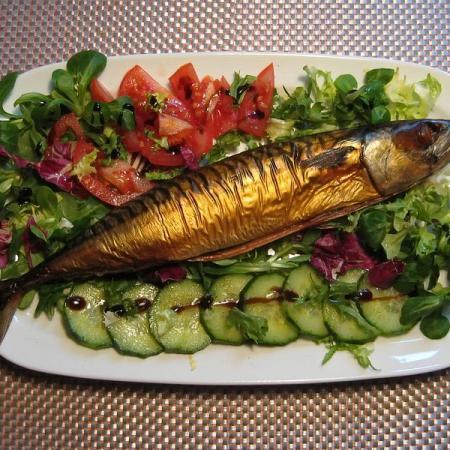 Smoked Mackerel with salad