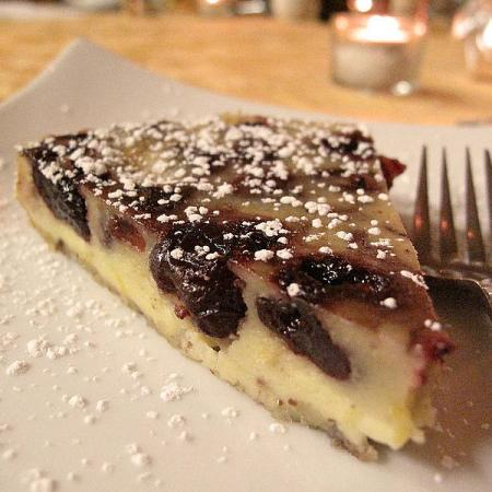Zinfandel Soaked Cherry Clafoutis