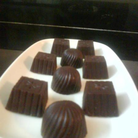 Dark Chocolates (Squares and Rounds)