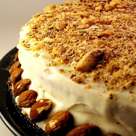 Pumpkin Spice Cake with Almonds
