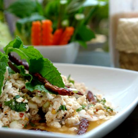 Larb Gai With Sticky Rice