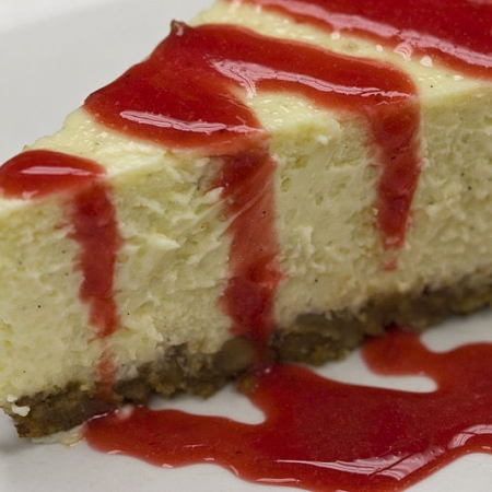 Cheesecake with Fruit sauce