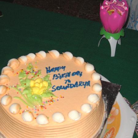 Yellow Cheese Birthyday Cake