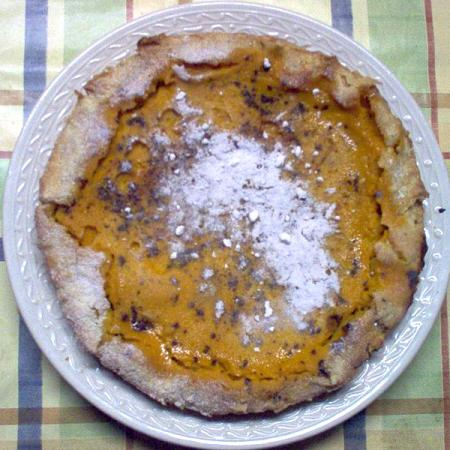 Pumpkin Pie with pineseed