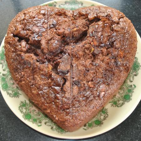 Burnt Heart Cake