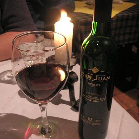 Uruguay Merlot wine