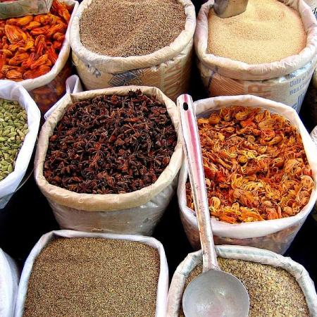 Spices in Mapusa Market, Goa