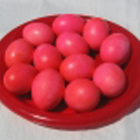 Greek Easter Foods-Red Eggs
