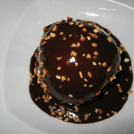 Profiteroles Drizzled with Chocolate