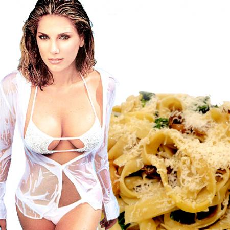 Christie Brinkley with Homemade Pasta