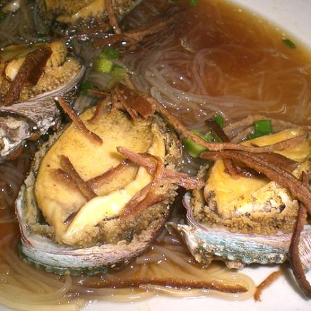 Steamed Abalone with Mandarin orange peels