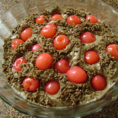 Homemade Cherry Chocolate Mousse