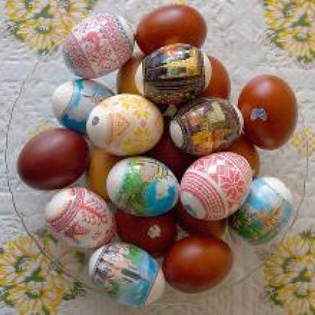 Painted Chocolate Easter Eggs