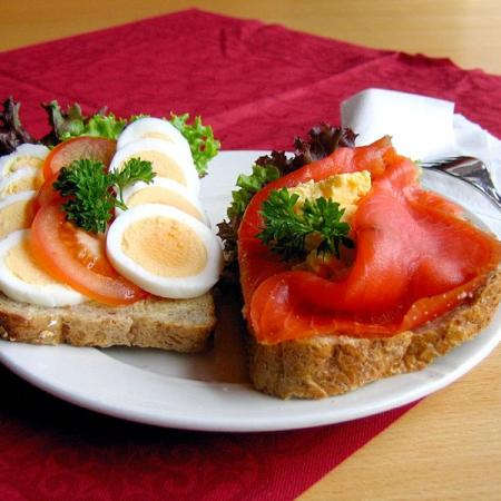 Open-face sandwiches