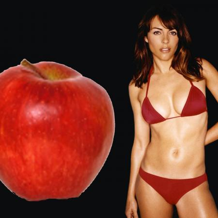 Apple Body Type - Elizabeth Hurley