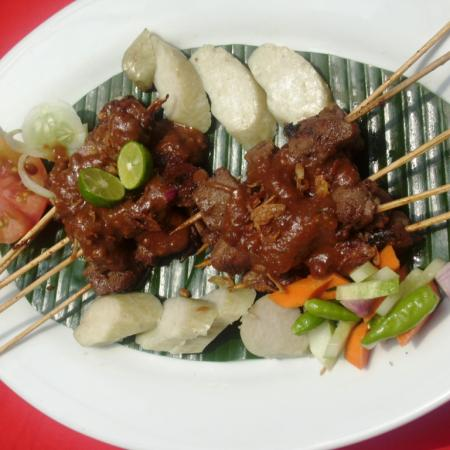 Beef Satay with Lontong