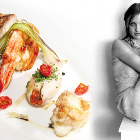 Cameron Diaz With Seafood